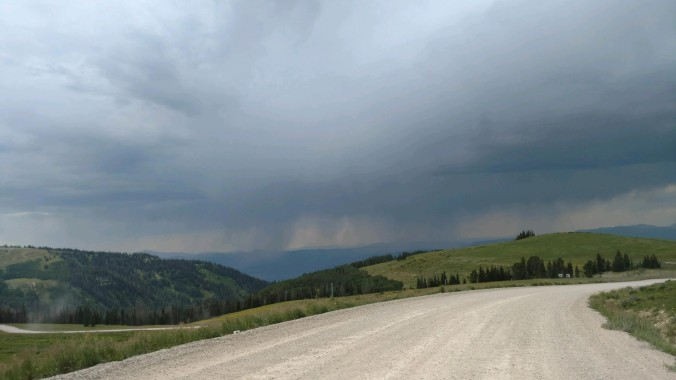 looming rain outside of Manti utah